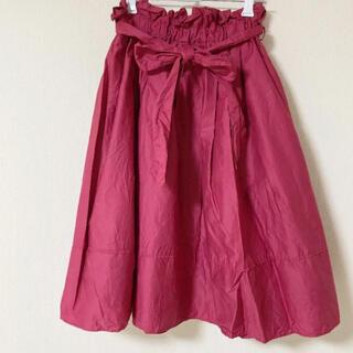 NICE CLAUP - たっぷりギャザーのひざ下スカート
