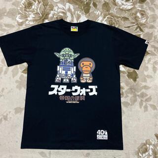 A BATHING APE - APE BAPE KAWS STAR WARS 帝国の逆襲 tシャツ L 黒