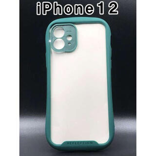 iPhone12 ケース シンプル かわいい スマホ 韓国 人気 緑 F