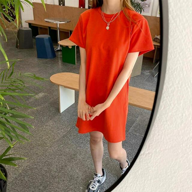 nugu即完売ビタミンカラーteeワンピ レディースのワンピース(ミニワンピース)の商品写真