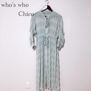 who's who Chico - 【美品】who's who Chico  ワッシャーシアーロングワンピース
