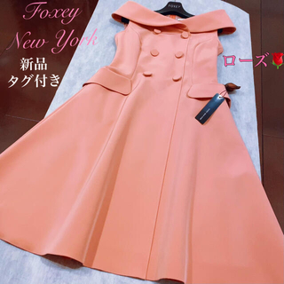 FOXEY - フォクシー FOXEY ワンピース新品未使用タグ付き✨2019完売ローズ🌹38
