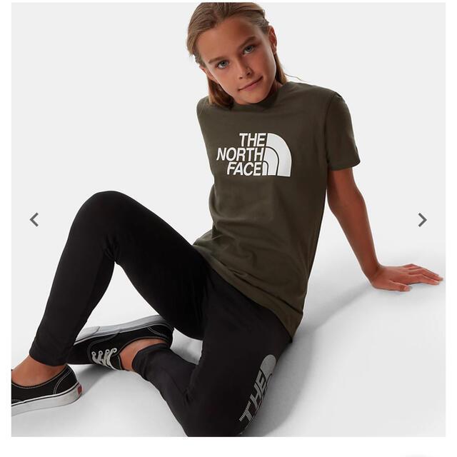 THE NORTH FACE(ザノースフェイス)のnico-pon様 専用 ノースフェイス ビッグロゴ T カーキ 170cm レディースのトップス(Tシャツ(半袖/袖なし))の商品写真