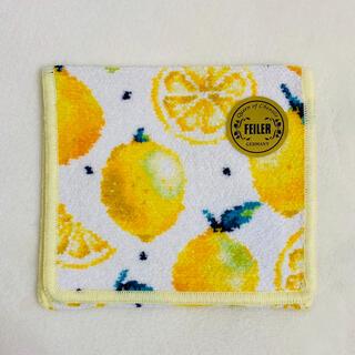 フェイラー(FEILER)の【新品】レモンドット ホワイト ハンカチポーチ(ハンカチ)
