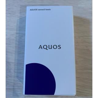 アクオス(AQUOS)のAQUOS sense3 basic ブラック 32  GB SIMフリー(携帯電話本体)