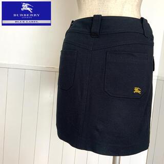バーバリーブルーレーベル(BURBERRY BLUE LABEL)の美品 バーバリー ミニスカート サイズS ラコステ トミー フレッドペリー(ミニスカート)