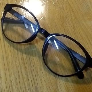 【新品同様】UVカット眼鏡 だて眼鏡 黒縁メガネ 眼鏡 メガネ めがね