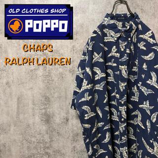 Ralph Lauren - チャップスラルフローレン☆ボタニカル柄半袖ビッグレトロ総柄シャツ 90s