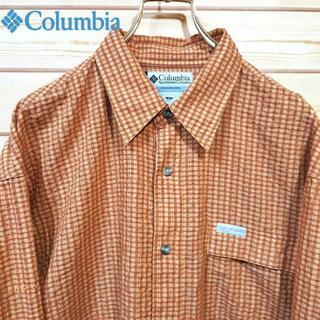 コロンビア(Columbia)のコロンビア おしゃれ長袖チェックシャツ サイズL オーバーサイズ ゆるだぼ(シャツ)