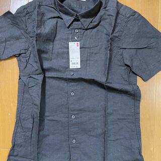 UNIQLO - ユニクロ メンズシャツ M ダークグレー