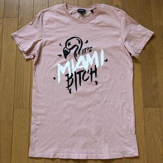 ディーゼル(DIESEL)のDIESEL ディーゼル メンズ 半袖 プリントTシャツ 薄ピンク Mサイズ(Tシャツ/カットソー(半袖/袖なし))