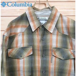 コロンビア(Columbia)のコロンビアColumbia チェック柄長袖シャツ サイズXL(シャツ)