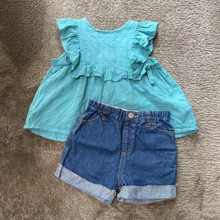 プティマイン(petit main)のプティマイン チュニック  デニム 90(Tシャツ/カットソー)