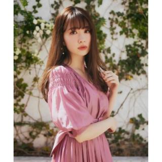 Airy Volume Sleeve Dress  rose(ロングワンピース/マキシワンピース)
