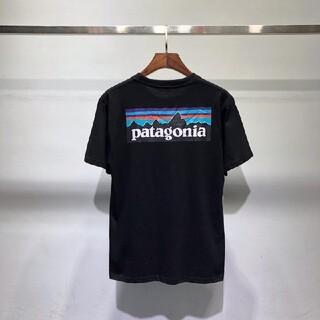 パタゴニア(patagonia)のpatagonia メンズ P-6ロゴ 半袖Tシャツ 38512 黑 Mサイズ(Tシャツ/カットソー(半袖/袖なし))