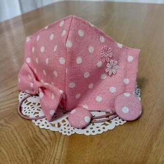 ピンク ドット柄 インナーマスク ヘアゴムセット(外出用品)