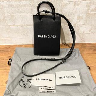 Balenciaga - 100%本物 BALENCIAGA  ショッピング フォンホルダーバッグ