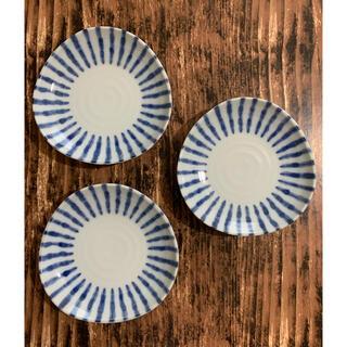 手書き風 十草模様 12cm 中皿 3枚セット 和食器 美濃焼 藍色