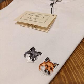 メゾンキツネ(MAISON KITSUNE')のSサイズ Tシャツ メゾンキツネ ダブルフォックス ホワイト(Tシャツ(半袖/袖なし))