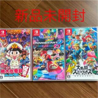 Nintendo Switch - switchソフトセット スマブラ  マリオカート8  桃太郎電鉄