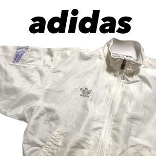 アディダス(adidas)の80's 90's adidas ナイロンジャケット ホワイト(ナイロンジャケット)
