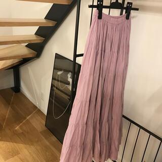Noble - MARIHA  ラベンダー色 草原の虹のスカート