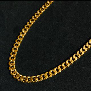 喜平 ネックレス メンズ60g 60cm k18 yg 2面シングル ゴールド