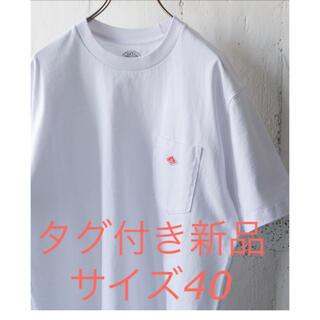 ダントン(DANTON)の【新品タグ付】ダントン Tシャツ ロゴポケット ホワイト 40(Tシャツ/カットソー(半袖/袖なし))