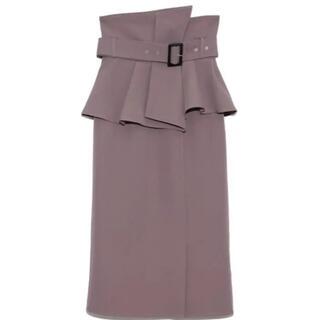 snidel - snidel スナイデル コルセットベルトタイトスカート moc 0サイズ