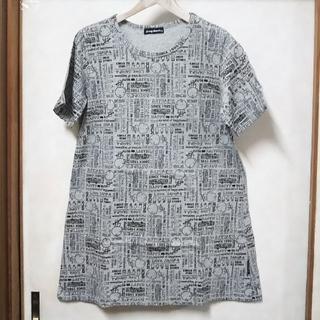drug store's - drug store's 半袖Tシャツチュニック キャラ総柄