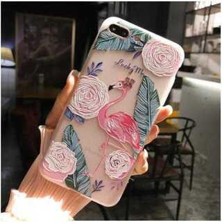スマホケース フラミンゴ柄 iPhone おしゃれ カワイイ 超薄型 軽量 保護
