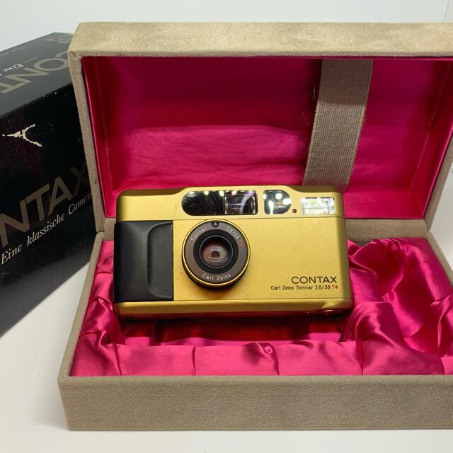 京セラ(キョウセラ)のコンタックス T2 チタンゴールド CONTAX T2 titan gold スマホ/家電/カメラのカメラ(フィルムカメラ)の商品写真