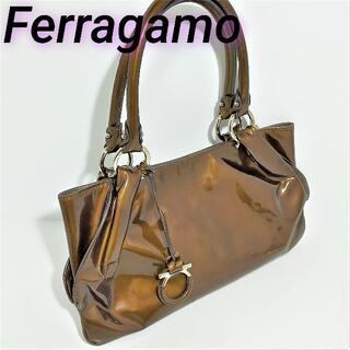 Salvatore Ferragamo - 【SALE価格】フェラガモ ミニ ハンドバッグ ガンチーニ エナメル
