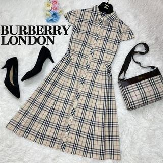 BURBERRY - 極美品♡バーバリーロンドン 半袖 ワンピース ノバチェック 三陽商会