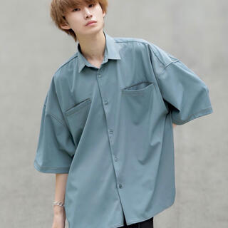 anown シャイニーステッチオーバーサイズ 半袖シャツ