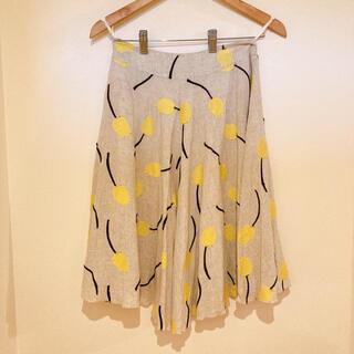 ミナペルホネン(mina perhonen)のサリースコット フレアスカート チューリップ刺繍 (ひざ丈スカート)