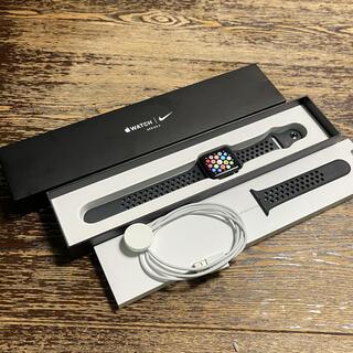 アップルウォッチ(Apple Watch)のApple Watch Series3 GPSモデル Nike+42mmブラック(腕時計(デジタル))