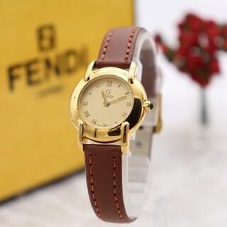 FENDI - 箱付き【新品電池】FENDI 410L/動作良好 人気モデル ゴールド