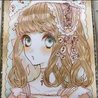 ◆手描きイラスト/ 【イラスト原画】【白薔薇の園】◆オリジナル◆(アート/写真)