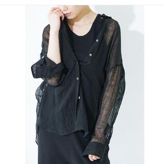 DEUXIEME CLASSE - カレンソロジー 21ss リネンメッシュシャツ 黒