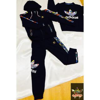アディダス(adidas)の#adidas とにかくお洒落で かっこいいジャージです♡新品未使用&送料無料(セット/コーデ)
