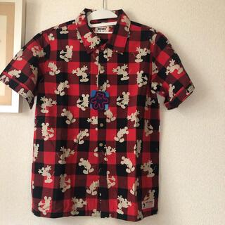Disney - 新品未使用 タグ付き ディズニー ミッキー チェックシャツ Sサイズ メンズ