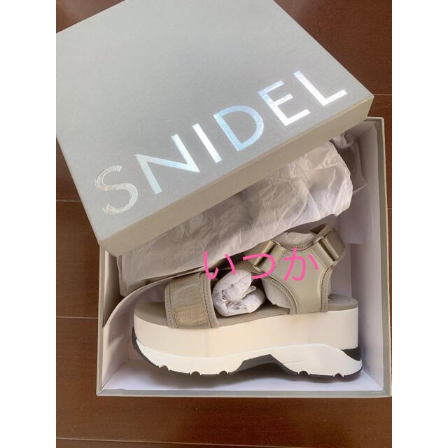 snidel(スナイデル)のsnidelスニーカーソールサンダル レディースの靴/シューズ(サンダル)の商品写真