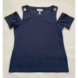 カルバンクライン(Calvin Klein)のカルバンクライン オフショルダートップス(カットソー(半袖/袖なし))
