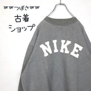 ナイキ(NIKE)の【入手困難⭐︎】NIKE 銀タグ グレー 古着 モックネック でかろご 90s(スウェット)