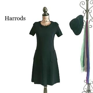 ハロッズ(Harrods)のHarrods ハロッズ ワンピース ブラック(ひざ丈ワンピース)