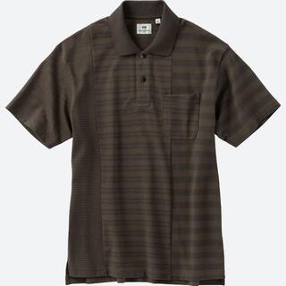 ユニクロ(UNIQLO)のユニクロ エンジニアド ガーメンツ ドライカノコボーダーポロシャツ オリーブ(ポロシャツ)