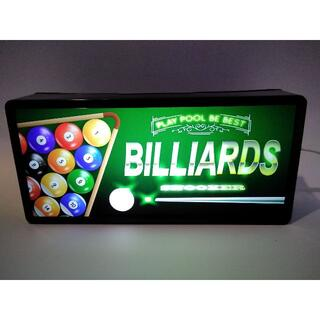 ビリヤード★BILLIARDS★置物★雑貨★LEDプラスチックライトBOX(ビリヤード)
