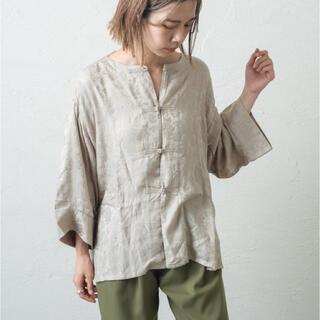 Kastane - kastane カスタネ  チャイナジャガードシャツ FREE