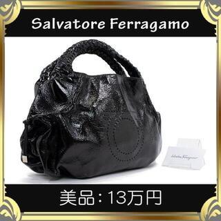 サルヴァトーレフェラガモ(Salvatore Ferragamo)の【真贋査定済・送料無料】フェラガモのハンドバッグ・正規品・美品・ガンチーニ柄(ハンドバッグ)